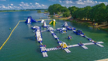 Aqua Park Suffolk was open for a fraction of its summer seasions at Alton Water after poisonous blue