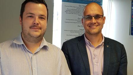 From left, production manager Anthony Spurr and chief executive Gavin Howlett of Circad Design Ltd