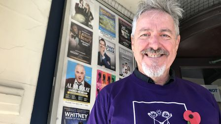 Griff Rhys Jones outside The Ipswich Regent where he will host his Happy Christmas Ipswich show with
