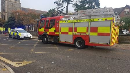 The collision happened this morning on Franciscan Way and all emergency services are attending the s