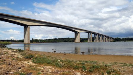 The Orwell Bridge has re-opened after a police incident Picture: MICK WEBB
