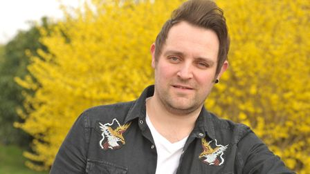 Gareth Grayston, who survived bowel cancer, said it is a frightening time waiting for treatment Pic