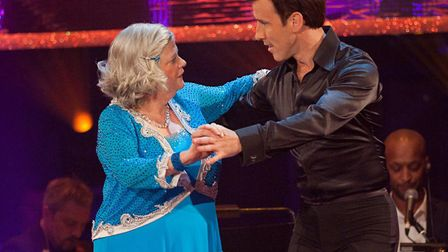 Ann Widdecombe and Anton Du Beke dancing their way into Strictly history Picture: BBC