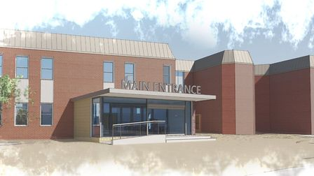 An architect's impression of what the new Ipswich Hospital A&E building could look like Picture: KLH