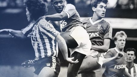 Dalian Atkinson in action for Ipswich Town at Portman Road Picture: RICHARD RACKHAM