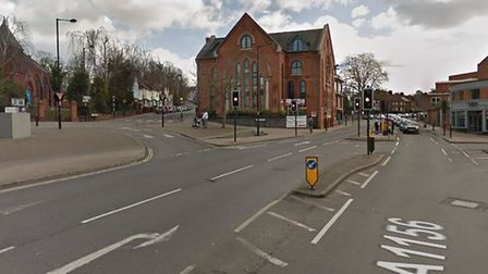Police are at the scene of a collision in Back Hamlet, Ipswich Picture: GOOGLEMAPS