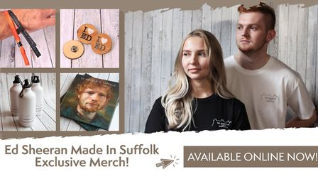 """Ed Sheeran's """"Cool Merch"""" can now be bought online. Picture: IPSWICH COUNCIL"""