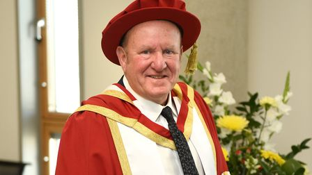 Ian Livingstone CBE was awarded an honorary doctorate Picture: UNIVERSITY OF SUFFOLK