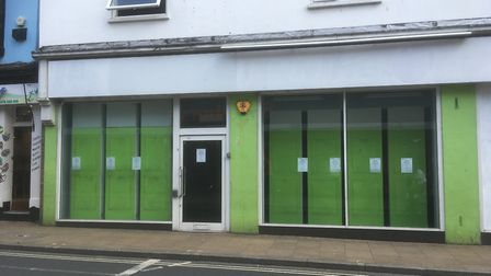 A former betting shop in Upper Brook Street, Ipswich - one of 458 empty business premises in Ipswich