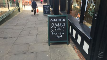 Ohh Deer was just one of the businesses to leave Ipswich in 2019 Photo: ARCHANT