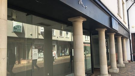 The BHS building close to the Buttermarket Shopping Centre has remained empty for years Photo: ARCHA