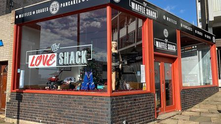 The Waffle Shack in Felixstowe looks set to re-open as the Love Shack, an adult-themed store Pictur