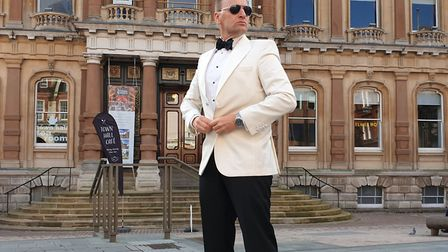 'James Bond' in front of Ipswich Town Hall Picture: ARCHANT