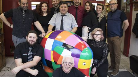 Elmer goes to the hairdressers, at Francesco hair salon Picture: CHARLOTTE BOND