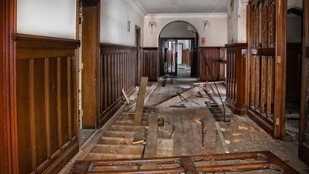 Damage recorded in County Hall by the Vistorian Society in 2012. Picture: VICTORIAN SOCIETY