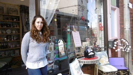Artist Ana Negru has turned here hobby into a business and operned a gift and craft shop in Upper Or