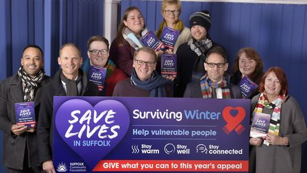 Supporters of the Surviving Winter appeal launch the campaign at the Suffolk Community Foundation P