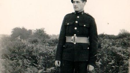Maurice Pink in 1946, in uniform Picture: Pink family archive