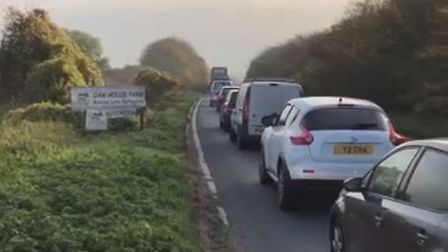 The traffic is at a standstill on all roads leading on to the road works and many have been stuck fo