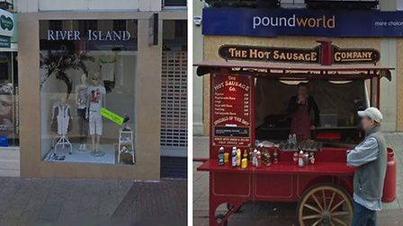 Poundland on Tavern Street in Ipswich 10 years ago and now Picture: GOOGLEMAPS