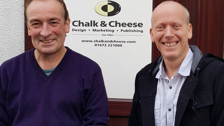 David White is retiring from Ipswich graphic agency Chalk & Cheese, but the business is carrying on.