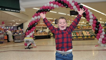 Jack Ruddock cut the ribbon at the grand openeing of the newly revamped Morrisons Picture: SARAH