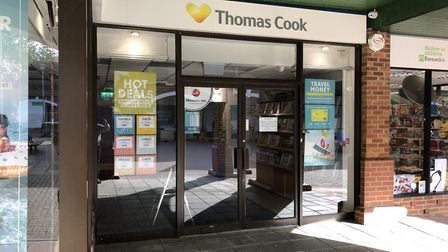 Thomas Cook in Wilkes Way, Stowmarket, which has closed following the collapse of the company Pictur