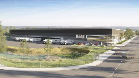 An artist's impression of a 143,000sq ft e-commerce facility at Port One Logistics Park which Curzon