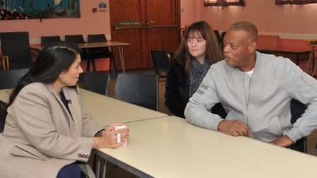 Home Secretary Priti Patel meeting Helen Forbes, the stepmother to Tavis Spencer -Aitkens and Nevill