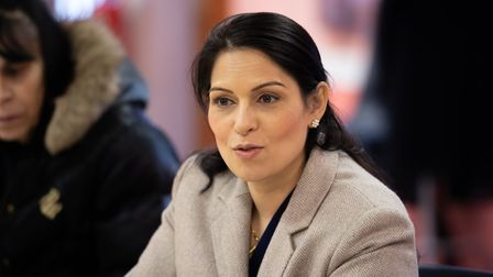 Home Secretary Priti Patel made a visit to Ipswich and spoke to members of the community. Picture:
