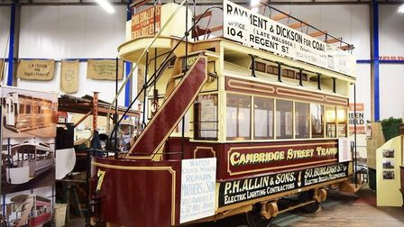 The Cambridge horse tram is now back to its 1880 condition. Picture: MEL RINGER/ITM