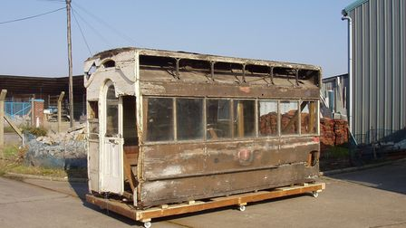 The horse tram arrived at Ipswich Transport Museum in 2003. Picture; MEL RINGER/ITM