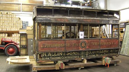 Work about to start on the horse tram in April 2013. Picture: MEL RINGER/ITM