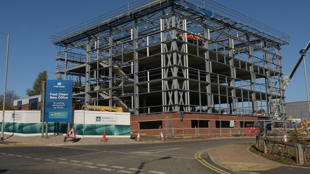Work on the new Fred Olsen building is underway Picture: SARAH LUCY BROWN