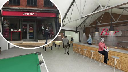 What the former Q Ball in Ipswich's Upper Brook Street could look like. Picture: STAN BEANLAND / ARC