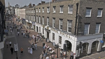 The Great White Horse Hotel in 2007. Charles Dickens wrote in Pickwick Papers: 'Never was such labyr