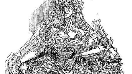 Miss Havisham, drawn by Harry Furniss in 1910 Picture: VIA Wikimedia Commons