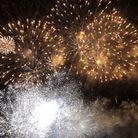 The fireworks in Christchurch Park Picture: MARK LANGFORD
