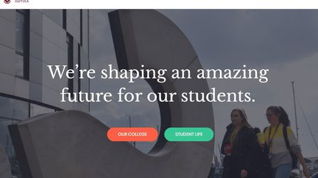 A photograph of the University of Suffolk on the Waterfront has been used on a fake website which ha