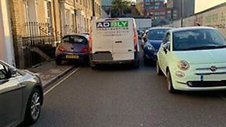 Sunday shoppers parking in Lower Brook Street in Ipswich are causing problems for residents Picture