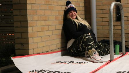 A crowd of 40 fundriaisers took part in this year's Ipswich Sleep Out 2019 Picture: THE BENJAMIN FO