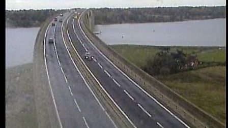 The Orwell Bridge has now reopened. Picture: TRAFFIC CAMERAS UK