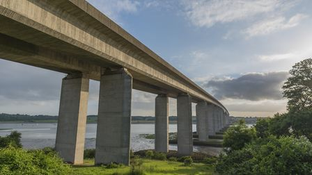 The Orwell Bridge is closed this morning. Picture: Getty Images/IStockphoto