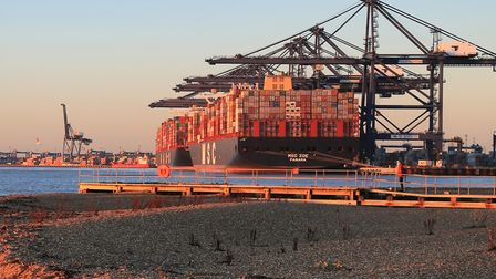 Engineering workers at Felixstowe Docks have voted for strike action Picture: IAIN BLACKLAW