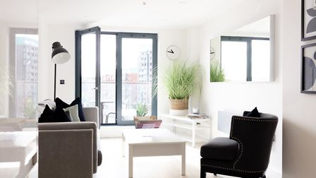 A new show apartment has opened in the Winerack development in Ipswich. Picture: THEWINERACKAPARTMEN