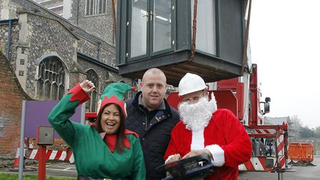 From left, Claire Hayward of Quay Place; Paul Sheppard, of SMART, and Chris Brind, of BJ&C Carberry