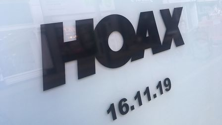 New pop-up Hoax store is due to open on November 16 Picture: RACHEL EDGE