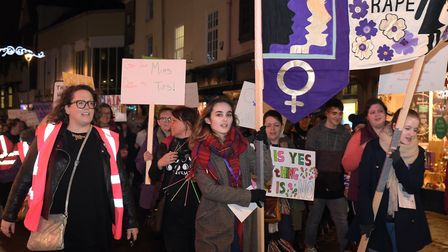 On November 30 the Reclaim The Night march will return to Ipswich Picture: SARAH LUCY BROWN