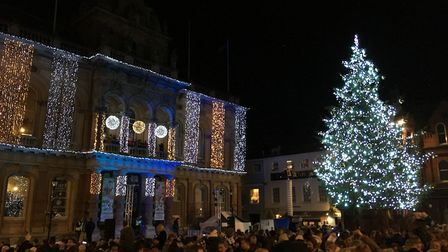 The event has been packed since the return of a real 50-foot tree to the Cornhill in 2017 Picture: A