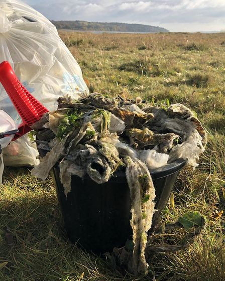 Anglian Water said sewage is not pumped into the River Orwell and are unsure of the wet wipes' sourc